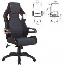 Кресло компьютерное Brabix Techno Pro GM-003 ткань, серое 531813