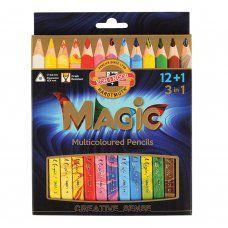 Карандаши многоцветные трехгранные утолщенные KOH-I-NOOR Magic 13 шт 5,6 мм 3408013001KS
