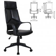 Кресло компьютерное Brabix Premium Prime EX-515 экокожа, черное 531569