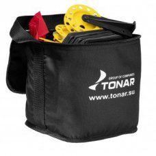 Набор жерлиц оснащенных 10 шт Тонар ЖЗО-03 в сумке, подставка 210, катушка 85 мм