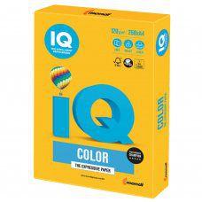 Бумага цветная для принтера IQ Color А4, 120 г/м2, 250 листов, солнечно-желтая, SY40