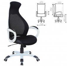 Кресло компьютерное Brabix Premium Genesis EX-517 сетка/ткань, черное 531573
