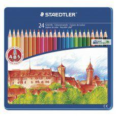 Карандаши цветные Staedtler  Noris club 24 цвета в пенале 145 CM24