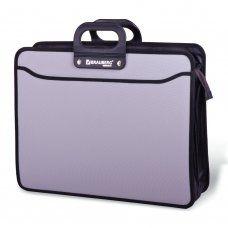 Папка портфель А3 для документов пластиковая Brauberg Портфолио 3 отделения 223080