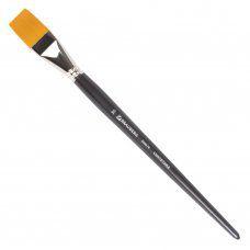 Кисть художественная Brauberg Art Classic синтетика жесткая, плоская, № 30, длинная ручка 200676