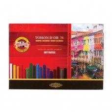 Пастель художественная KOH-I-NOOR Toison D'or 36 цвета квадратное сечение 8585036001KS