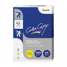 Бумага для цветной лазерной печати Color Copy Glossy А4, 200 г/м2, 250 листов, глянцевая
