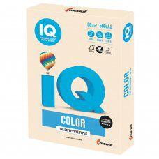 Бумага цветная для принтера IQ Color А3, 80 г/м2, 500 листов, кремовая, CR20