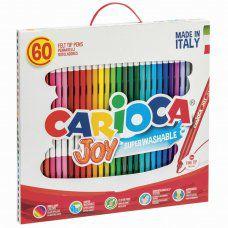 Фломастеры суперсмываемые Carioca Joy 30 цветов 60 шт 41015