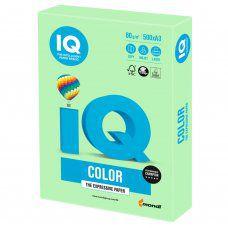 Бумага цветная для принтера IQ Color А3, 80 г/м2, 500 листов, зеленая, MG28