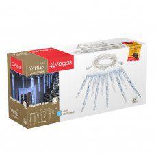Уличная светодиодная гирлянда (холодный свет) Vegas Сосульки 40 LED, 10 шт, 24V 55037