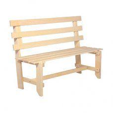 Скамейка со спинкой разборная Банные Штучки 130х50х100 см 3599