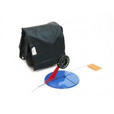 Набор жерлиц зимних 10 шт в сумке, подставка 195, катушка 75 мм, угловая пластиковая стойка