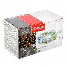 Светодиодная гирлянда для дома (мультиколор) Vegas Сеть 176 LED, 1,5х1,5 м, 220V 55073