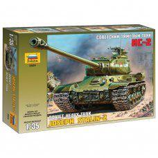 Сборная модель Звезда Тяжелый советский танк ИС-2 (1:35) 3524