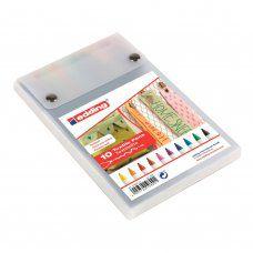 Маркеры для ткани Edding 4600 линия 1 мм 10 цветов E-4600/10S