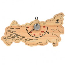 Термометр для бани и сауны Банные Штучки Карта России 18056