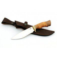 Нож туристический Ворсма Близнец, сталь 65х13, береста, орех (кузница Семина)
