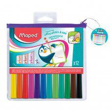 Маркеры для доски Maped Marker Pep's линия 1,5 мм 12 цветов 741817