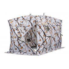 Зимняя палатка куб Higashi Double Winter Camo Comfort Pro трехслойная