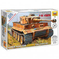 Сборная модель Звезда Танк тяжелый немецкий Т-VI Тигр (1:72) 5002