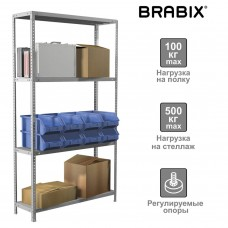 Стеллаж металлический Brabix MS Plus-185/40-4 (S241BR154402)