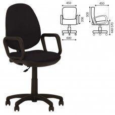 Кресло оператора Nowy Styl Comfort GTP ткань, черное ZT-25