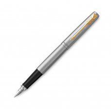 Ручка перьевая Parker Jotter Stainless Steel GT с позолотой 2030948