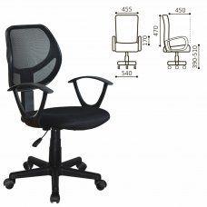 Кресло оператора Brabix Flip MG-305 сетка/ткань, черное 531952