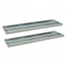 Полки к металлическому стеллажу Brabix MS/MS KD, 100х40 см, 2 шт (S241BR204102)
