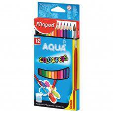 Карандаши цветные акварельные Maped Color Pep's 12 цветов + кисть 836011